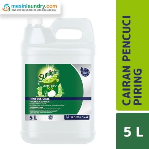 Foto Produk Sunlight Professional Lime Sabun Cuci Piring 5 Liter dari Mesinlaundry