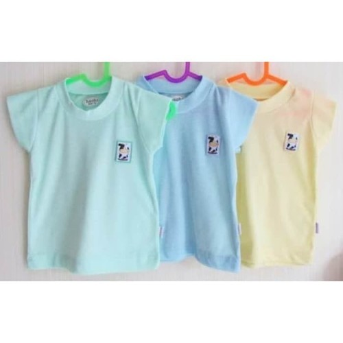 Foto Produk HACHI Kaos Oblong Warna Bayi Anak isi 3 Baju Singlet Pakaian Ukuran 30 dari Chevy Baby Shop