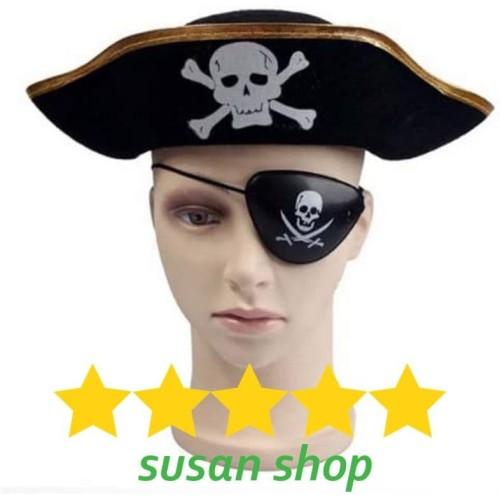 Foto Produk Topi bajak laut pirate hat penutup mata eye patch anak dan dewasa dari Susan Shop