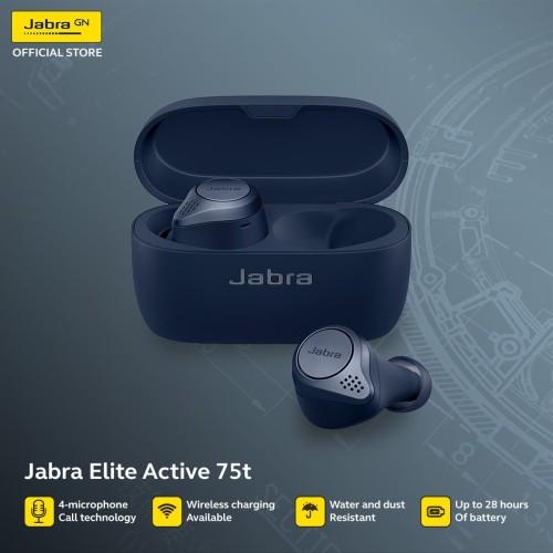 Foto Produk Jabra Elite Active 75t/75t Active True Wireless Earbuds - Navy Blue dari JABRA OFFICIAL STORE