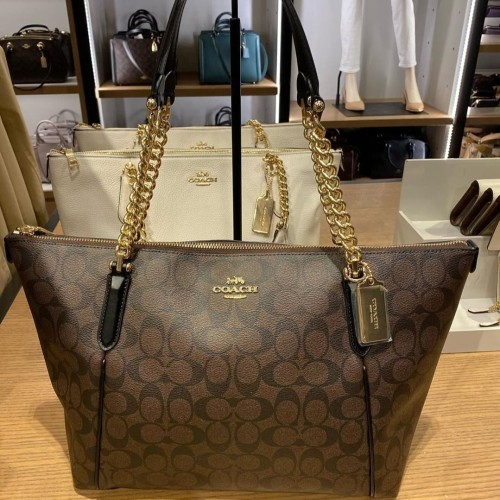 Foto Produk Coach Ava Chain Tote Signature Brown Black dari ferliarj16