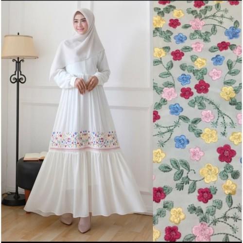 Foto Produk Gamis Ayunda Bordir / Ayunda Bordir Maxy / Ayunda Bordir Dress dari ayu rindu
