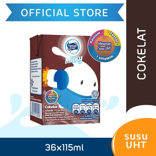 Foto Produk Frisian Flag Milky Zuzhu UHT Chocolate 115ml [36 pcs] dari Frisian Flag Official