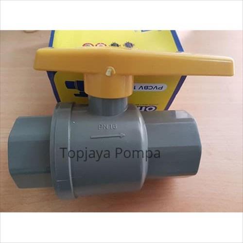 "Foto Produk BALL VALVE PVC / STOP KRAN PVCBV 3/4"" ONDA (TANPA DRAT) dari TOPJAYA POMPA"