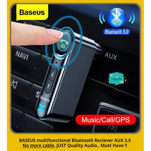 Foto Produk BASEUS Car Bluetooth Adapter Receiver AUX 3.5mm Wireless Audio 5.0 dari tookootri