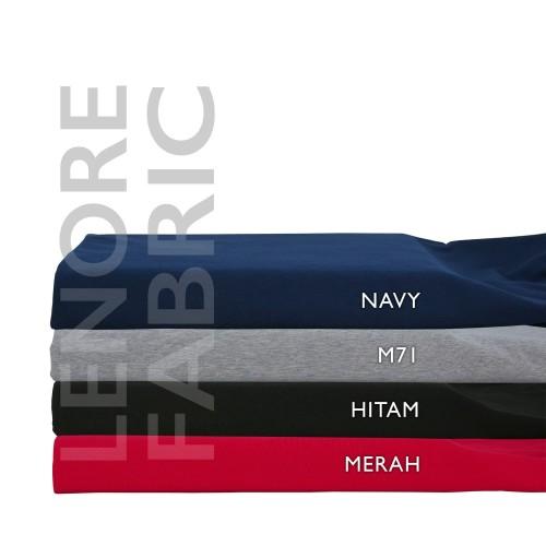Foto Produk BAHAN KAIN KATUN SPANDEX PREMIUM | BAHAN KAIN METERAN | COTTON SPANDEX - Hitam dari Lenore Fabric