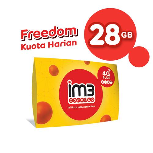 Foto Produk IM3 OOREDOO STARTER PACK PRABAYAR - FREEDOM HARIAN 28 GB (28 HARI) dari IM3 Ooredoo