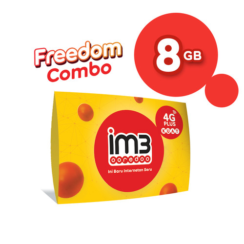 Foto Produk IM3 OOREDOO STARTER PACK PRABAYAR - FREEDOM 8 GB, 30 Hari dari IM3 Ooredoo