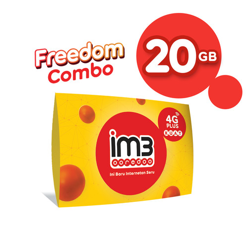 Foto Produk IM3 OOREDOO STARTER PACK PRABAYAR - FREEDOM 20 GB, 30 Hari dari IM3 Ooredoo