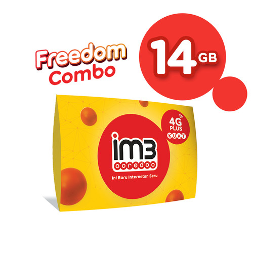Foto Produk IM3 OOREDOO STARTER PACK PRABAYAR - FREEDOM 14 GB, 30 Hari dari IM3 Ooredoo