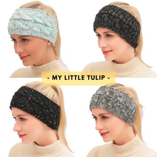 Foto Produk Bando Bandana Lebar Wanita / Headband Rajut Cantik / Bandana Korea - Confetti Mint dari My Little Tulip