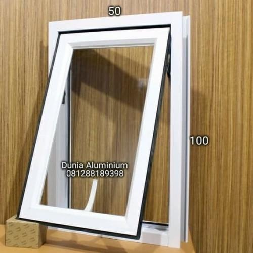 Foto Produk Jendela Aluminium L50 x T100 - Putih dari Dunia aluminium