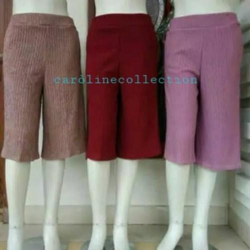 Foto Produk celana kulot wanita celana kulot plisket pendek 7/8 dari carolinecollection