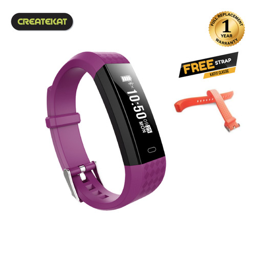 Foto Produk Createkat Smartwatch Pedometer Langkah Smart Band Katfit Classic - Ungu dari CreateKat