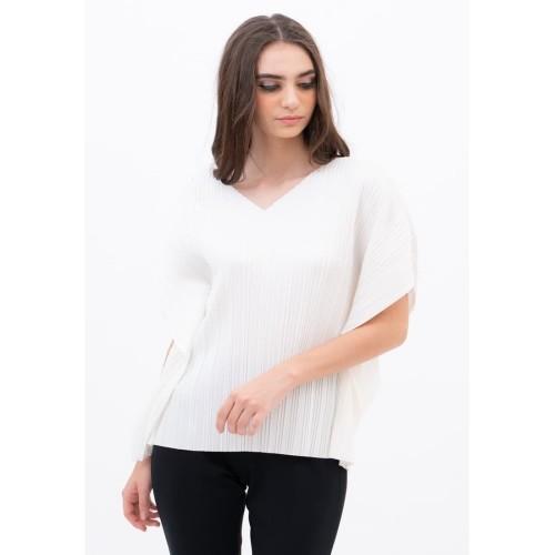 Foto Produk Pleats Blouse White - all size dari Voerin Official