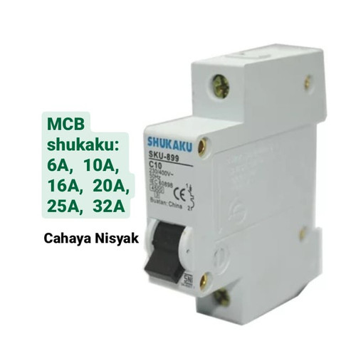Foto Produk MCB Shukaku 6, 10, 16 Ampere / 6A, 10A, 16A - SNI - 16 dari CAHAYA NISYAK