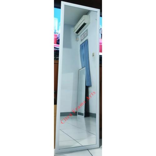 Foto Produk Cermin Dinding Besar Cermin Badan Cermin Gantung Dinding 122 X 41 - Putih dari TOKO BINGKAI CITRA FRAME