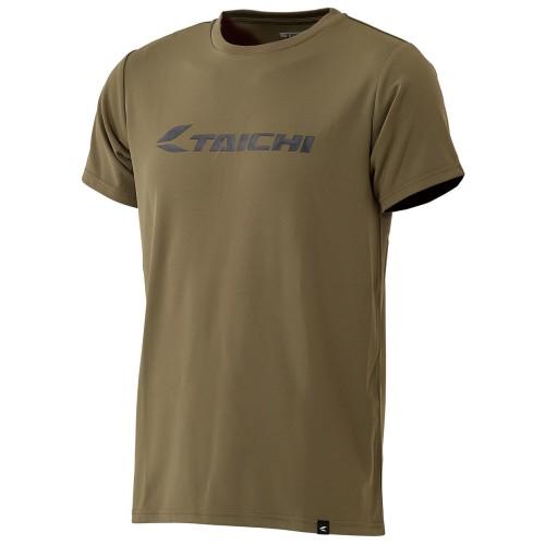 Foto Produk RS Taichi RSU322 CoolRide Dry T-shirt - Logo Khaki - XL dari RS Taichi Official Store