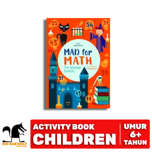 Foto Produk MAD FOR MATH - THE WIZARD SCHOOL dari Big Bad Wolf Books