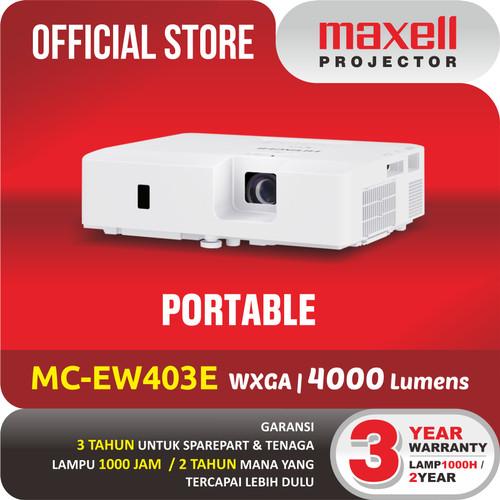 Foto Produk MAXELL PROJECTOR MC-EW403E PROYEKTOR TERBAIK WIDE XGA dari Maxell Projector
