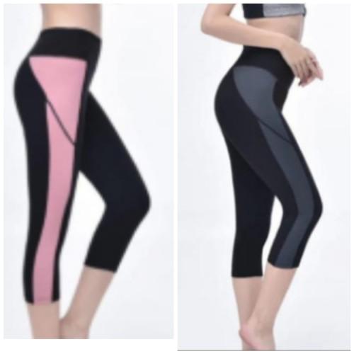 Foto Produk Legging Sport Celana Olahraga Wanita Kantong Senam Yoga 3/4 Premium dari kendas's shop