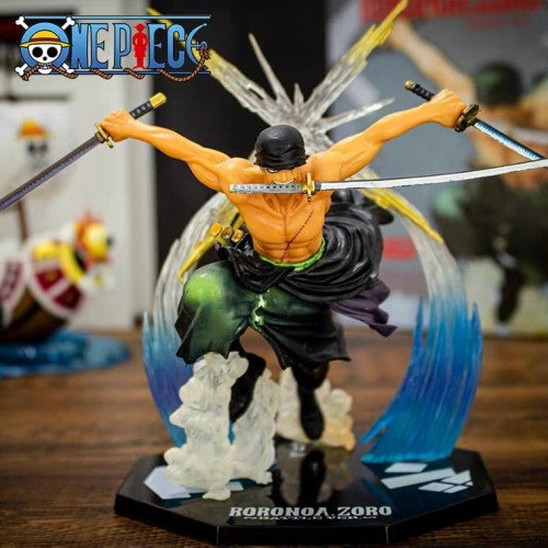 Foto Produk Zoro FZO Battle SHFiguarts Zero Bandai Roronoa Action Figure One Piece dari Figurindo