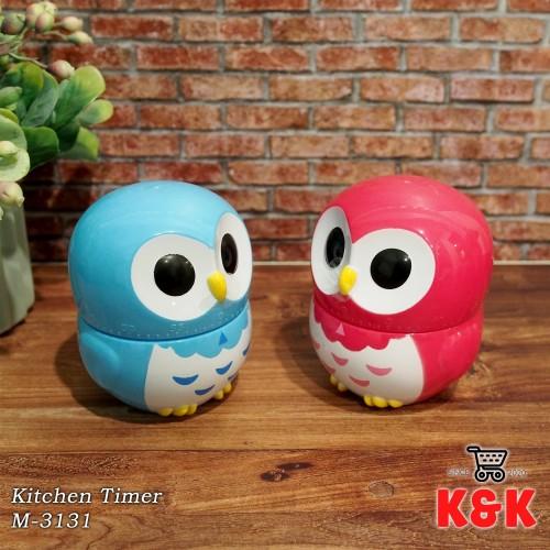 Foto Produk Timer Masak Kitchen Timer M-3131 (pink tua dan biru) - Pink tua dari K&K Houseware