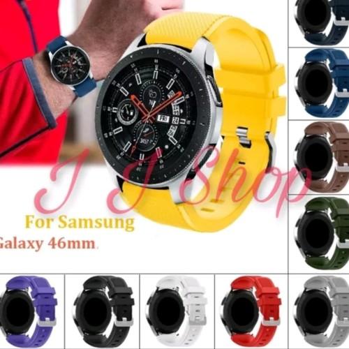 Foto Produk Strap Silicone Karet Band Samsung Galaxy Watch 46mm SM R800 Tali Jam dari Logam Mulia Termurah