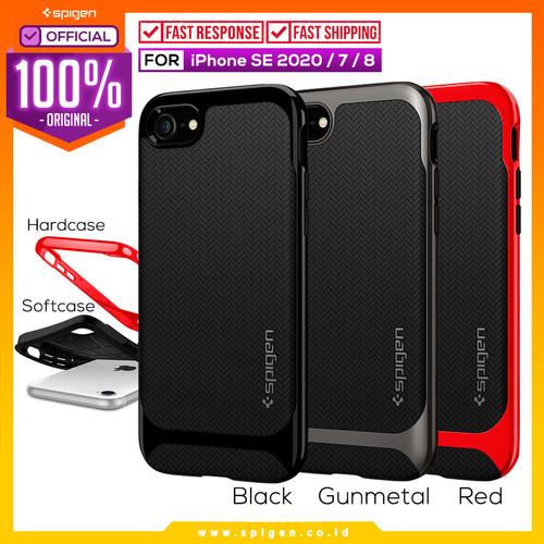 Foto Produk Case iPhone SE 2020 / 8 / 7 Spigen Neo Hybrid Herringbone Dual Layer - Dante Red dari Spigen Official