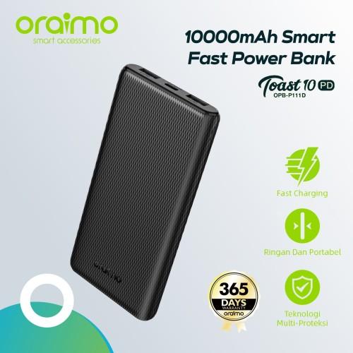 Foto Produk Oraimo Slim Fast Charging 10000mAh PD3.0 & QC 3.0 Powerbank OPB-P111D dari Oraimo_indonesia