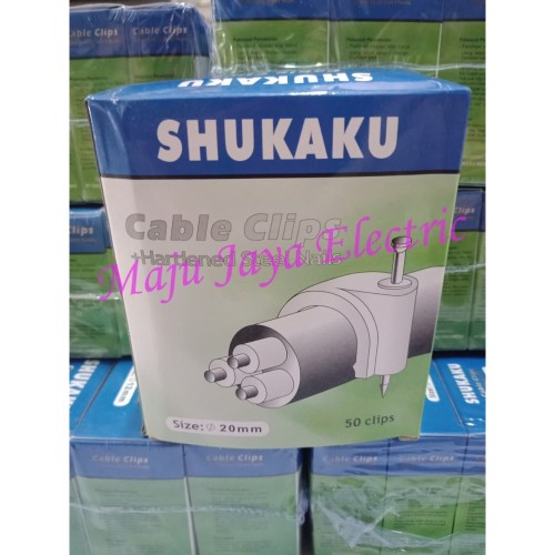 Foto Produk Klem Kabel Paku Beton 20mm Shukaku Klen Kabel Cable Clips 20 mm dari Toko Maju Jaya Electric
