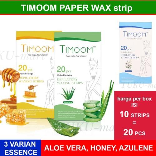 Foto Produk TIMOOM HAIR REMOVAL STRIP / PAPER WAX - ISI 10 DOUBLE STRIP - 20 PCS dari Tuku-Mart