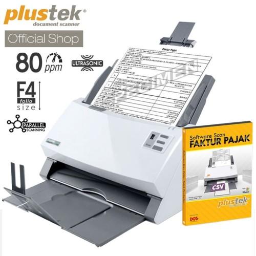 Foto Produk Scanner Plustek Faktur Pajak PS3180U - 80 Lembar/menit (F4/Folio) dari Plustek Indonesia