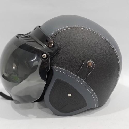 Foto Produk Helm Retro GTR Full Kulit Black dari GudangHelm