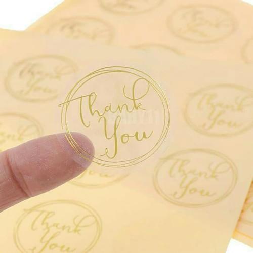 Foto Produk sticker thank you transparan 12pcs dari Just Me Shop