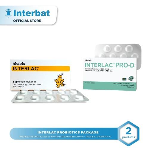 Foto Produk Interlac Probiotics package Lemon dari Interbat Consumer Health