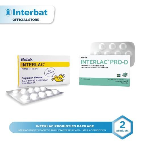 Foto Produk Interlac Probiotics package Strawbery dari Interbat Consumer Health