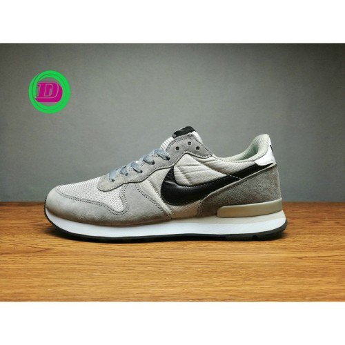 Original Nike Internationalist Grey Black For Men Women Running Shoe