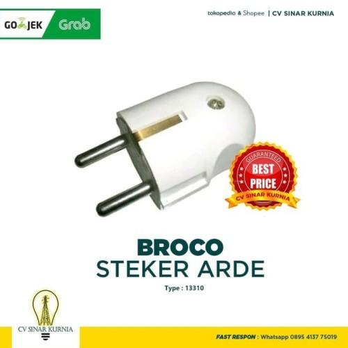 Foto Produk Steker Arde Merk Broco 13310 Warna Putih STEKER BROCO HARGA GROSIR dari SINAR KURNIA GATSU