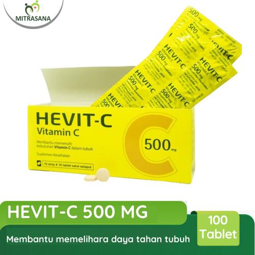 Foto Produk Hevit - c Vitamin C 500 Mg 100 tablet Hexpharm Jaya dari Mitrasana