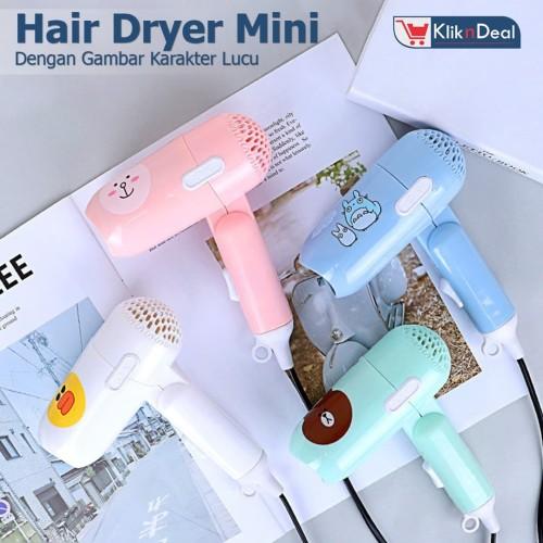 Foto Produk Hair Dryer Portable Mini ONYX 938 Karakter - Pengering Rambut Lipat dari KLIK N DEAL
