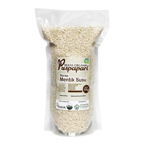 Foto Produk Trukajaya - Beras Mentik Susu Vakum 1kg - Beras Organik Puspapari dari Jagapati