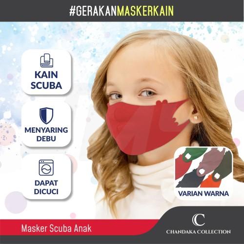 Foto Produk Masker Kain Anak / Masker Kain Scuba Anak / Anti Polusi dan Bakteri dari Jaya Motorsport