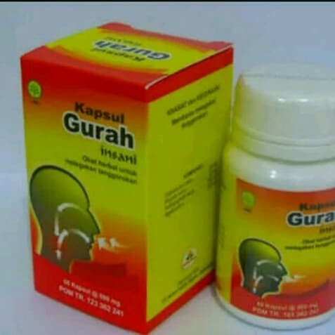 Foto Produk Kapsul Gurah Insani Herbal untuk Tenggorokan dari Rumah Herbal Amanah