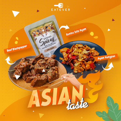 Foto Produk Eatever - Paket Asia Taste : Bumbu Instan + Makanan Siap Saji dari Eatever