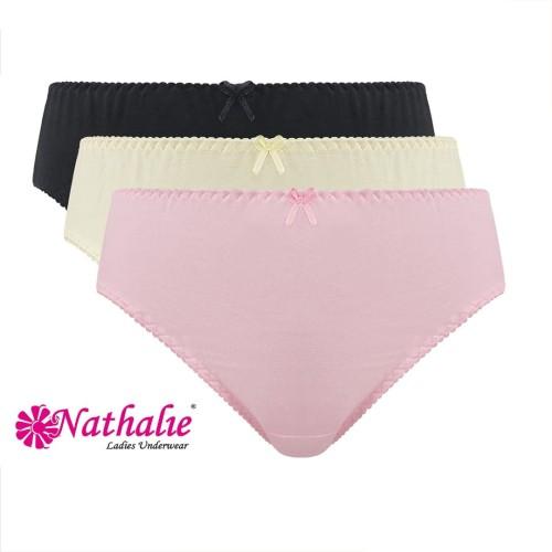 Foto Produk Nathalie Underwear Celana Dalam Midi Wanita Dewasa NT 06 1 Pack Isi 3 - M dari Flyman Nathalie Store