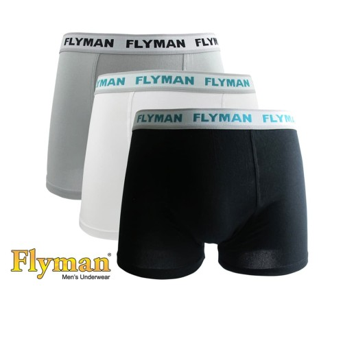 Foto Produk Flyman Celana Dalam Pria Dewasa | Boxer Pria Dewasa FM 3056 - Abu-abu, M dari Flyman Nathalie Store
