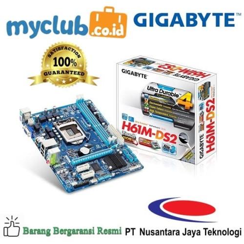Foto Produk Gigabyte Motherboard GA-H61M-DS2 dari Myclub