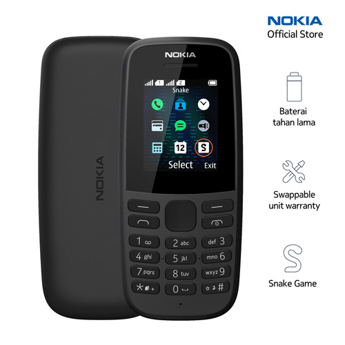 Foto Produk Nokia 105 – Black dari Nokia Mobile Official