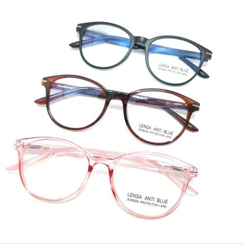 Foto Produk Kacamata frame anti radiasi blueray unisex - Hitam dari kacamata8